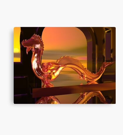 The Last Water Dragon Canvas Print