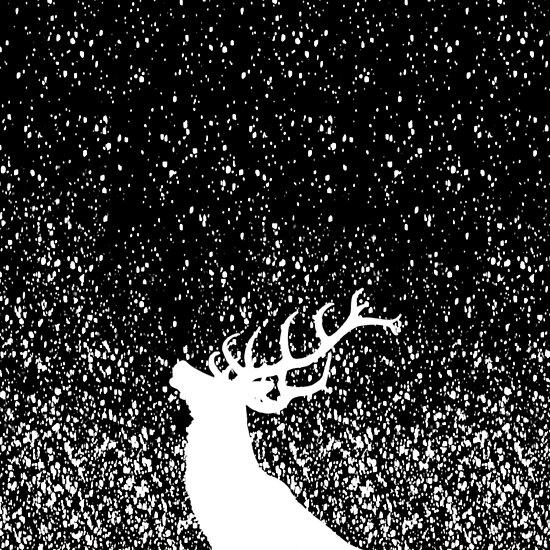 Oh Deer in B&W by IvonaVargek