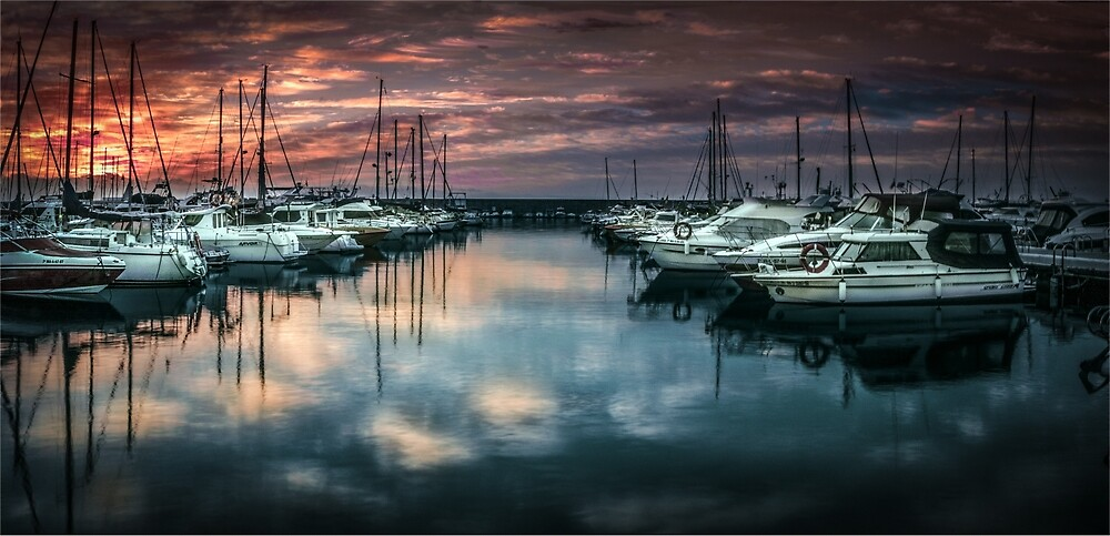 Sporting harbour of Fuengirola, Andalusia, Spain by peter hayward