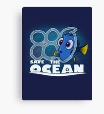 Save The Ocean Canvas Print