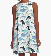 Whales, Orcas & Narwhals A-Line Dress
