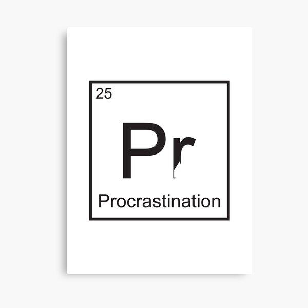 The Element of Procrastination Canvas Print