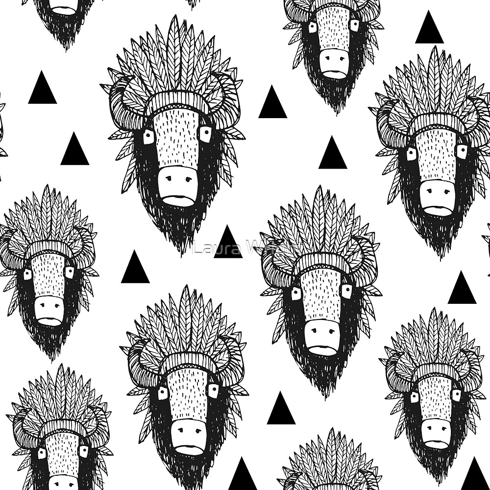 bison by Laura Wright