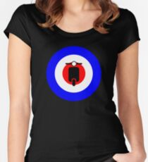 Scooter target - Mods Women's Fitted Scoop T-Shirt