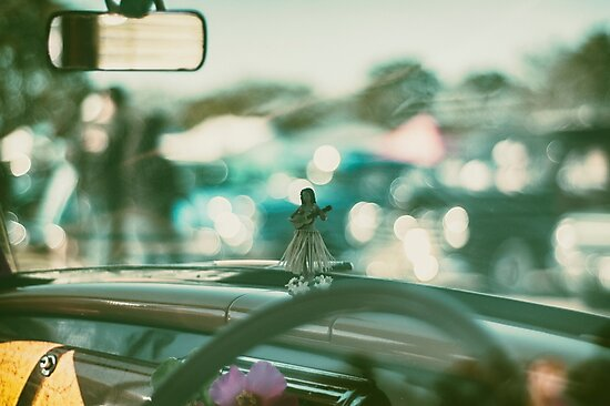 Hula doll on the dashboard by slin74