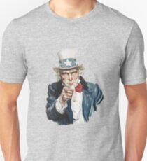 """I Want You""-Uncle Sam,U.S.Army, Vintage Dictionary Art Unisex T-Shirt"