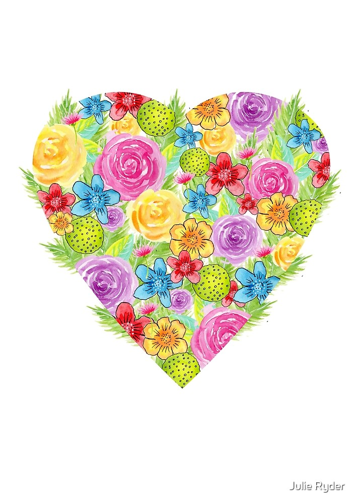 Hearts and flowers by Julie Ryder