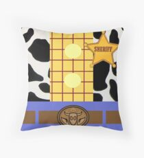 Minimalistic Woody Design Throw Pillow
