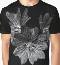 Backyard Flowers In Black And White 11 After The Storm Graphic T-Shirt