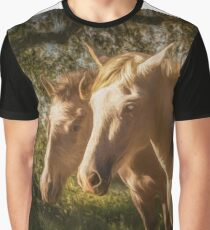 Two Andalusian horses in the early morning Graphic T-Shirt