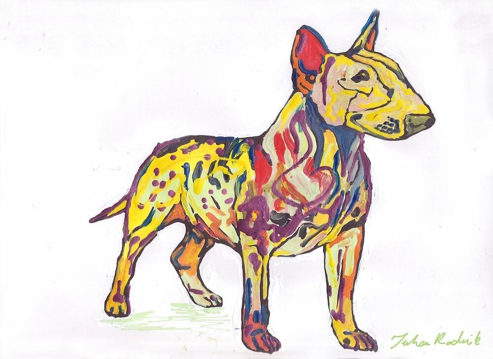 Bull Terrier by Juhan Rodrik