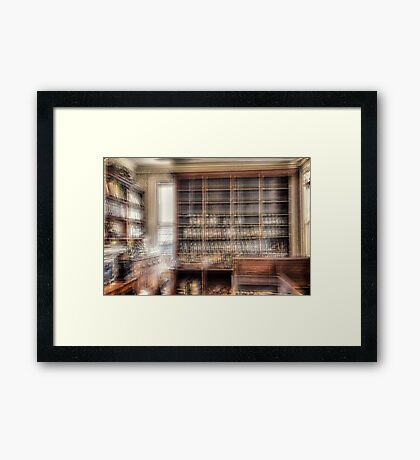 You'll be as good as new, Mrs Jones, once you start your medication. Framed Print