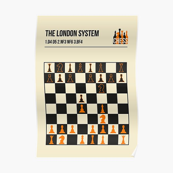 The London System Vintage Chess Opening Art Poster
