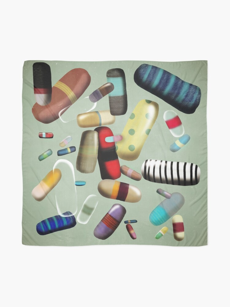 Alternate view of Vintage Pill Identification Scarf