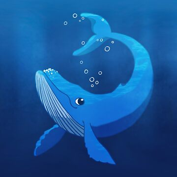 Cute Blue Whale by blackunicorn