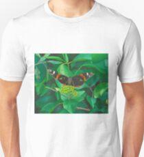 red admiral - green eyes Unisex T-Shirt