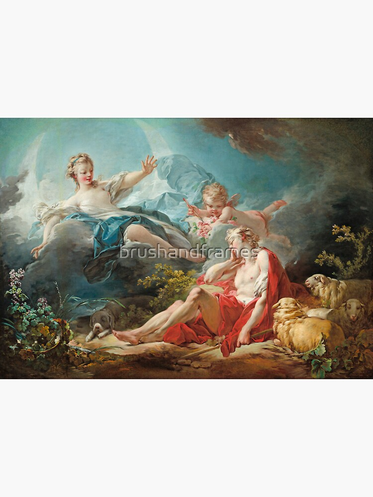 Diana and Endymion - Jean Honoré Fragonard by brushandframes