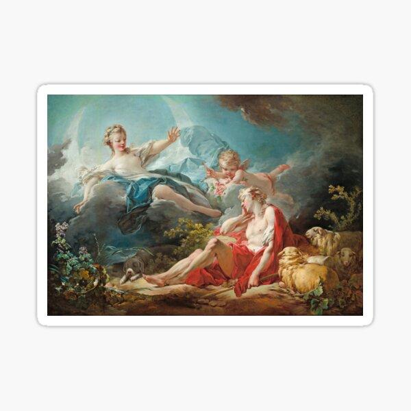 Diana and Endymion - Jean Honoré Fragonard Sticker