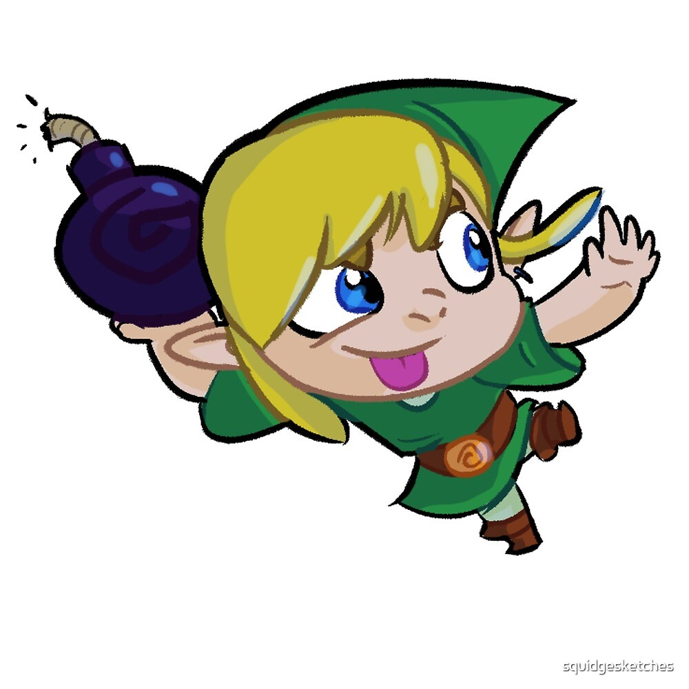 Chibi Link Bomb by squidgesketches