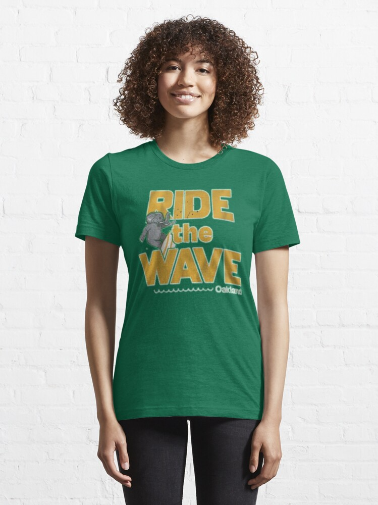 Alternate view of Ride the wave Oakland  Essential T-Shirt