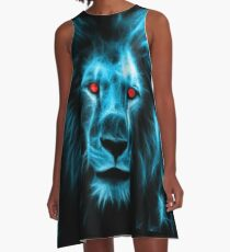 King of the Jungle - Lion Tee - Leo T-Shirt A-Line Dress