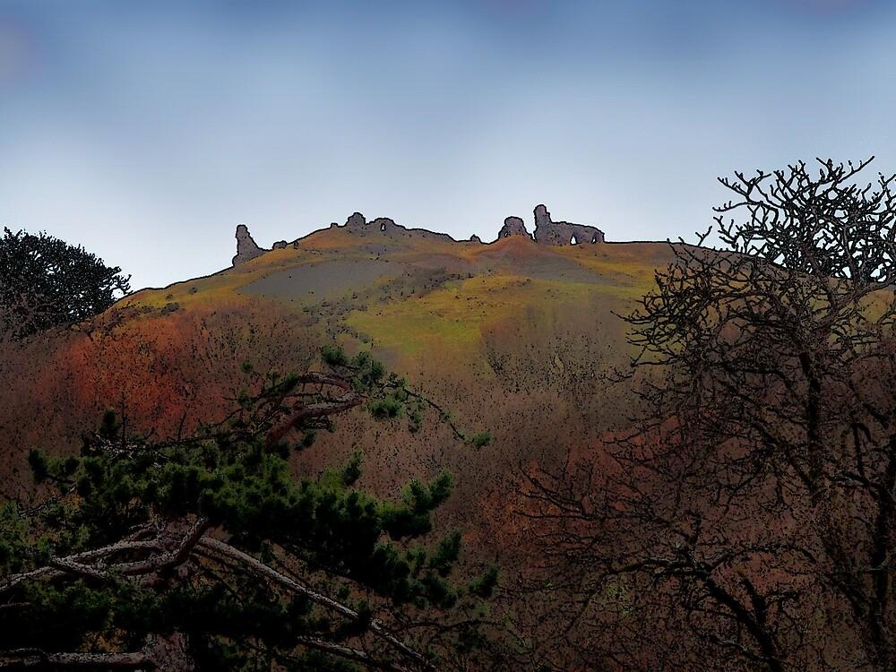 Dinas Bran Castle by BrainwaveArt