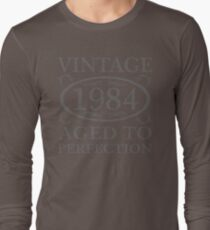 Vintage 1984 Birth Year Long Sleeve T-Shirt