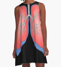 Lungs T-Shirt - Healthy Funny Tee A-Line Dress