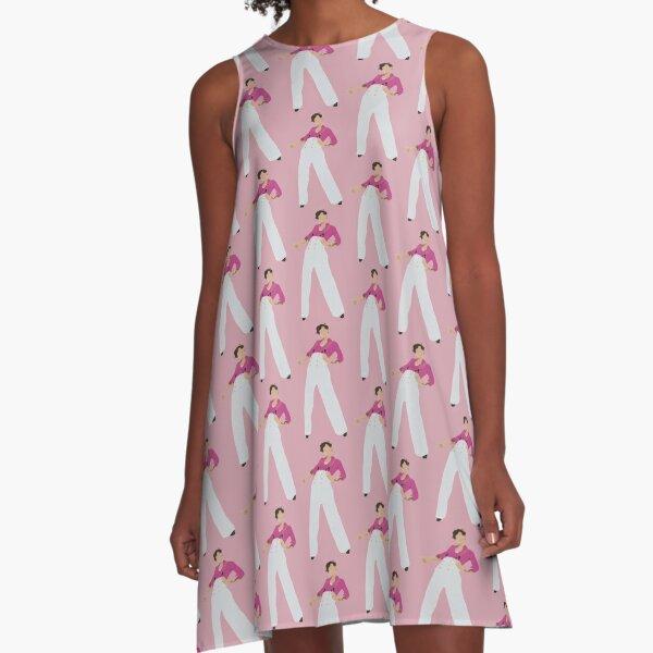 pink H A-Line Dress