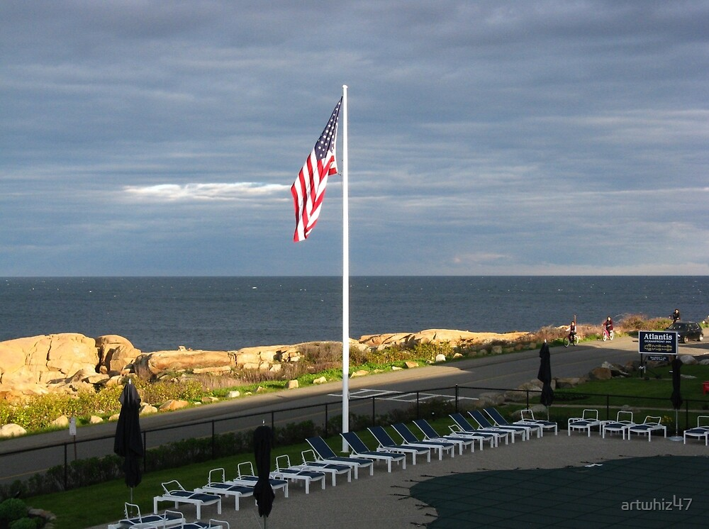 The Old Glory & The Sea ~ Happy 4th by artwhiz47