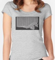 Bar code Women's Fitted Scoop T-Shirt