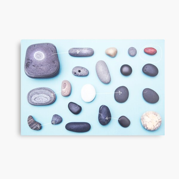 Paired pebbles... Metal Print