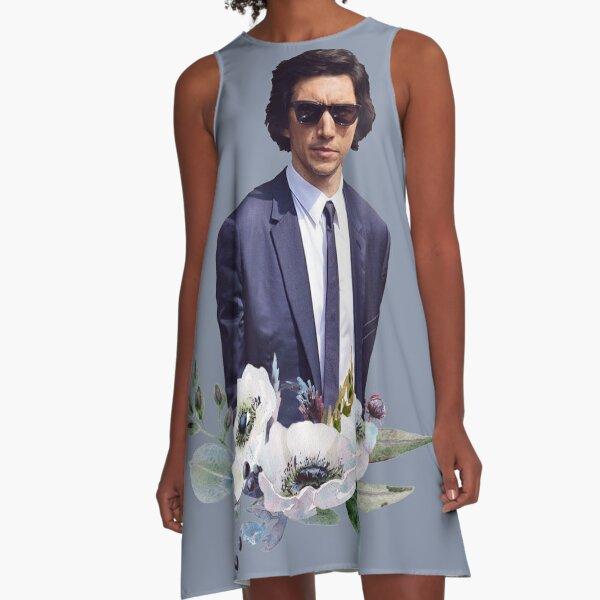 Adam Driver Blue Flower Boy A-Line Dress