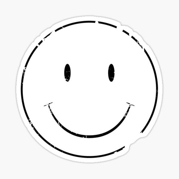 Cara feliz emoji angustiado Pegatina