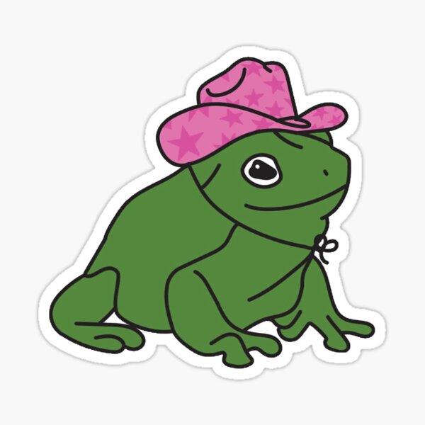 Cute Cowboy Frog Sticker