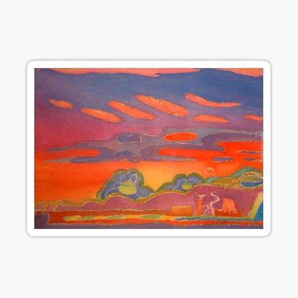 Mediterranean Sunset in Nice, France Sticker