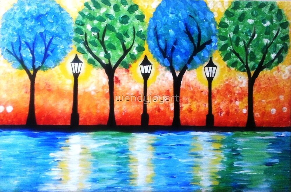 Twilight in the park by wendyjoyart