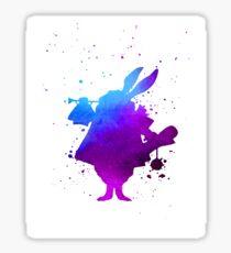 Purple splatter Mr Rabbit Sticker