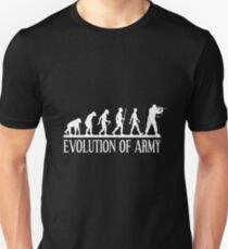 evolution of army Unisex T-Shirt