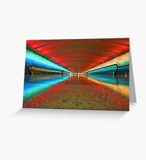 Airport Tunnel Greeting Card