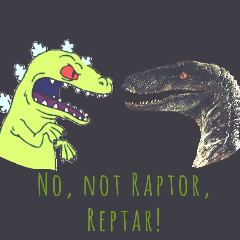 Raptor and Reptar by Lovecartoons121