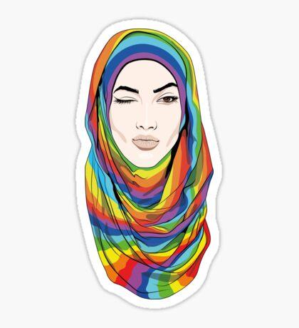 Rainbow Hijab Sticker
