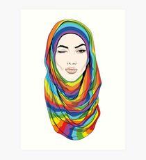 Rainbow Hijab Kunstdruck