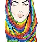 Rainbow Hijab von Lana Petersen
