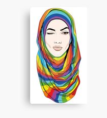 Rainbow Hijab Canvas Print