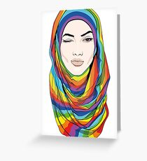 Rainbow Hijab Greeting Card