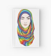 Rainbow hijab Hardcover Journal