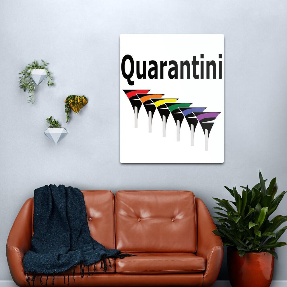 LGBT Quarantini Metal Print