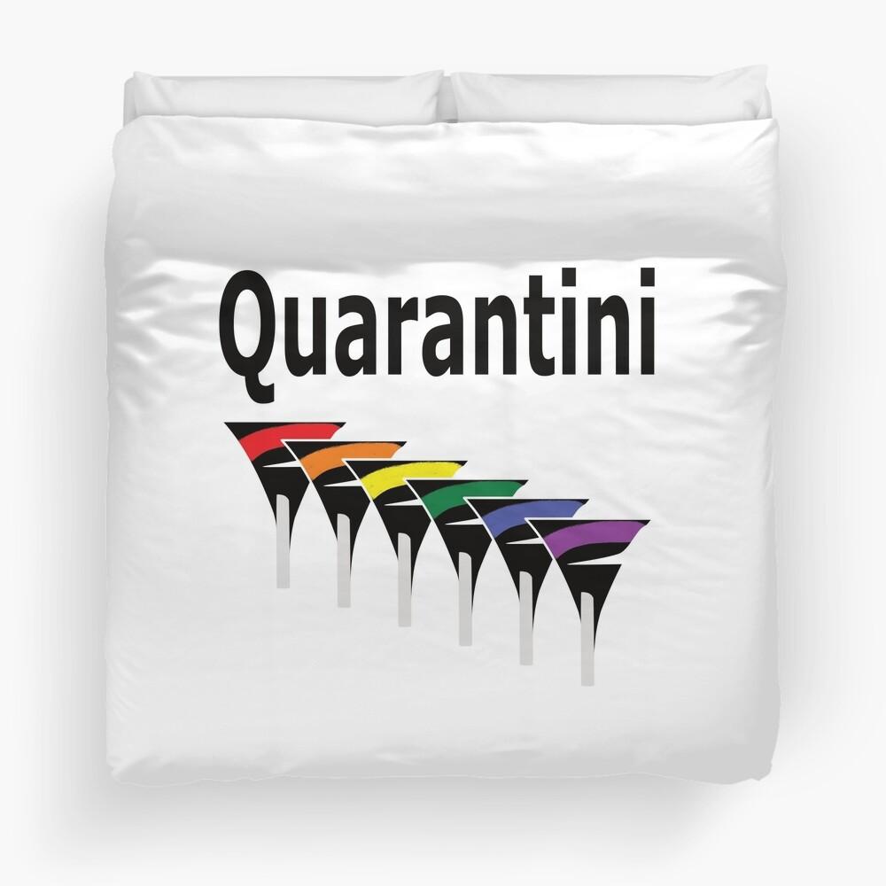 LGBT Quarantini Duvet Cover