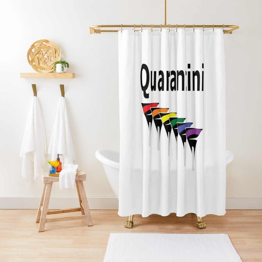 LGBT Quarantini Shower Curtain